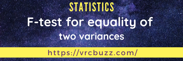 F-test for equality of two variances