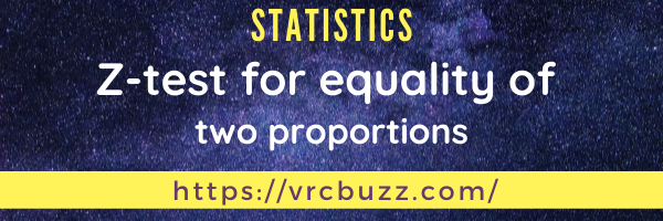 Z-test for equality of two proportions