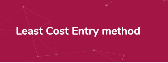 least-cost-entry-method