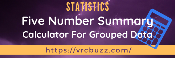 Five Number Summary Calculator for grouped data
