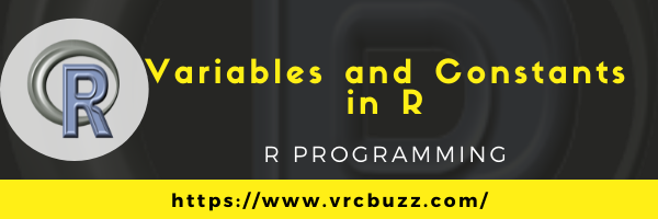 Variables and Constants in R