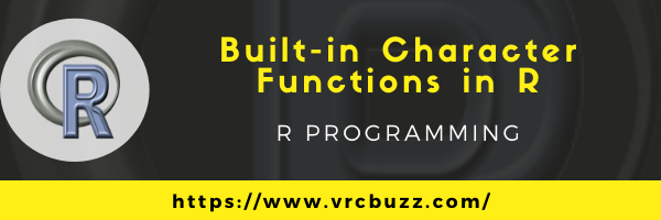 Built-in character functions in R