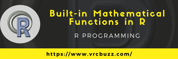 Built-in mathematical functions in R