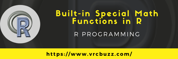 Built-in special math functions in R