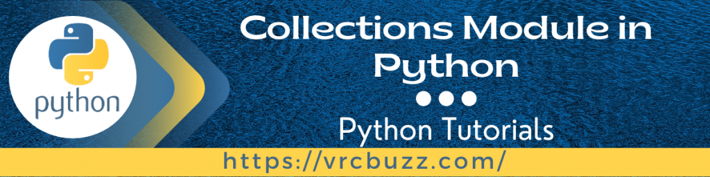 Collections module in Python