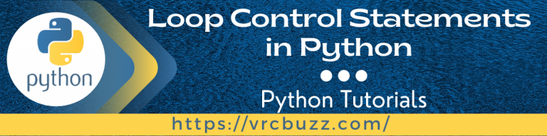 Loop control statements in Python