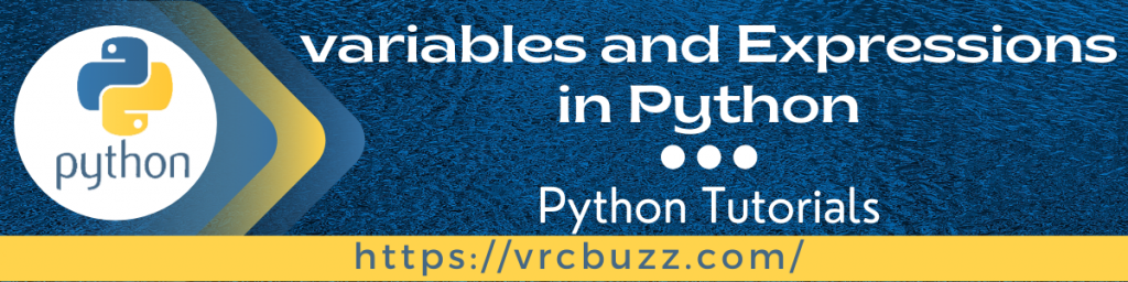 Variables and Expressions in Python