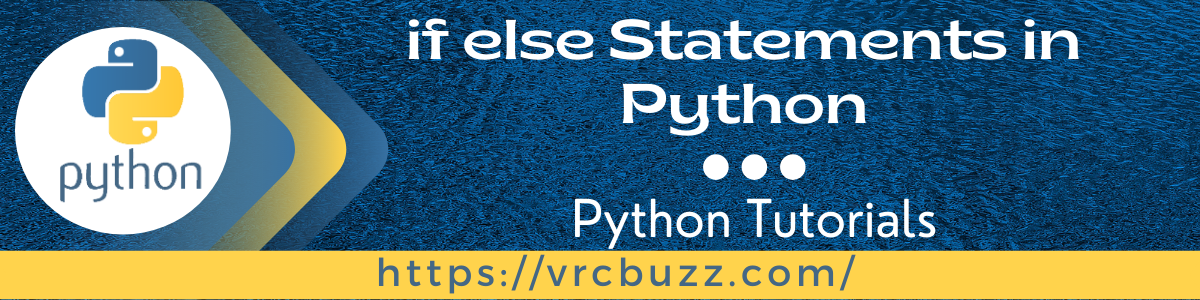 if else statements in python
