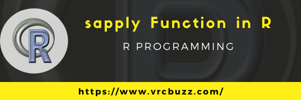sapply function in R