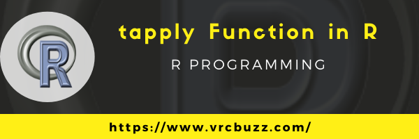 tapply function in R