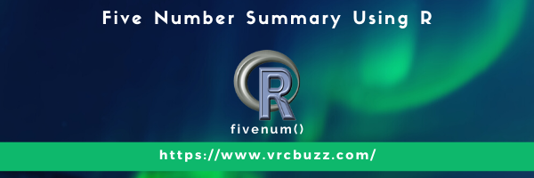 Five Number Summary Using R