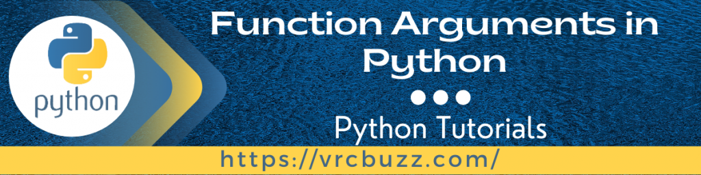 Function Arguments in Python