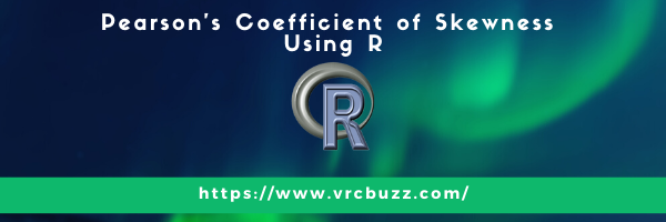 Pearson's coefficient of Skewness Using R